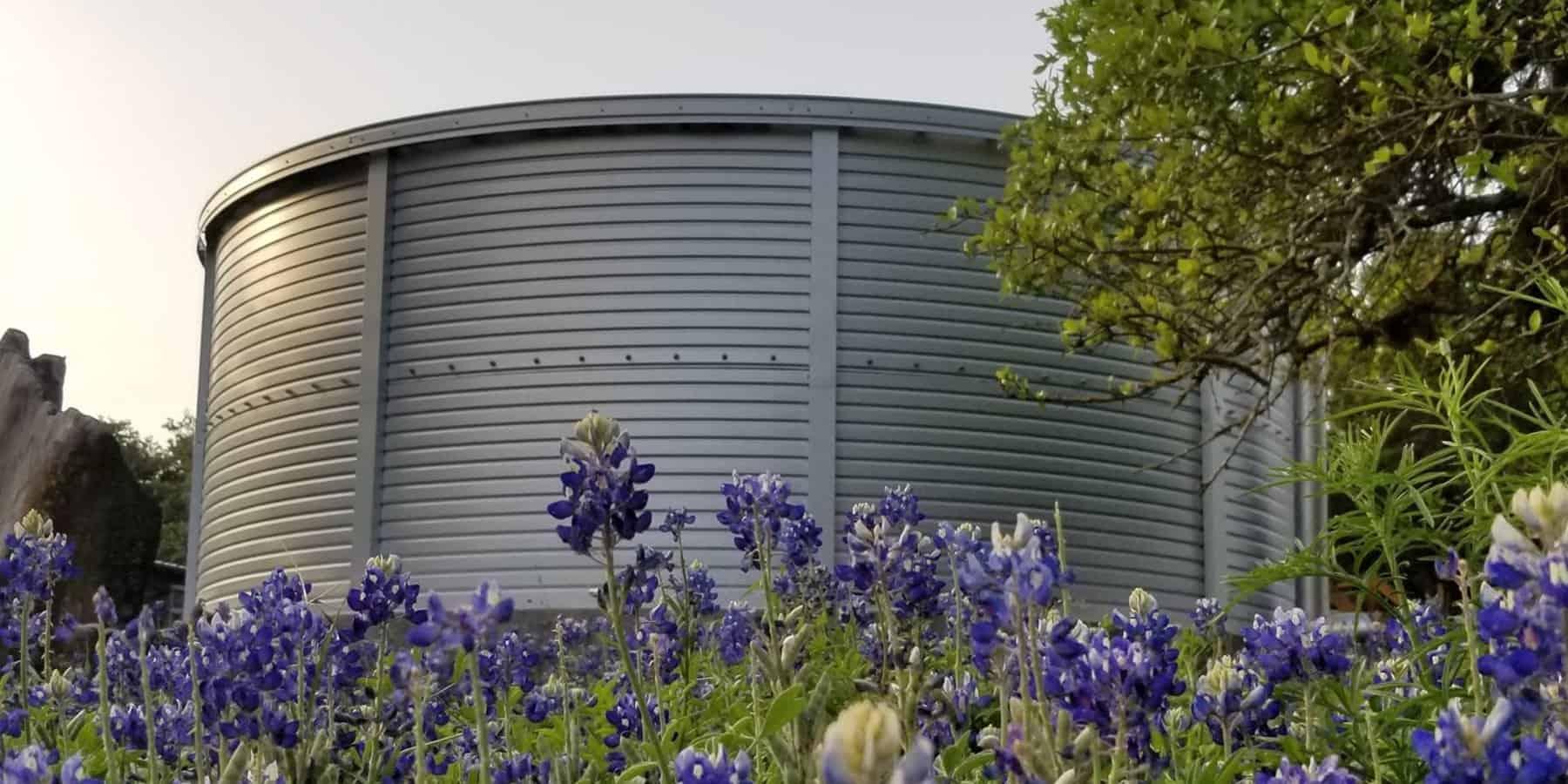 pioneer water tank in the bush