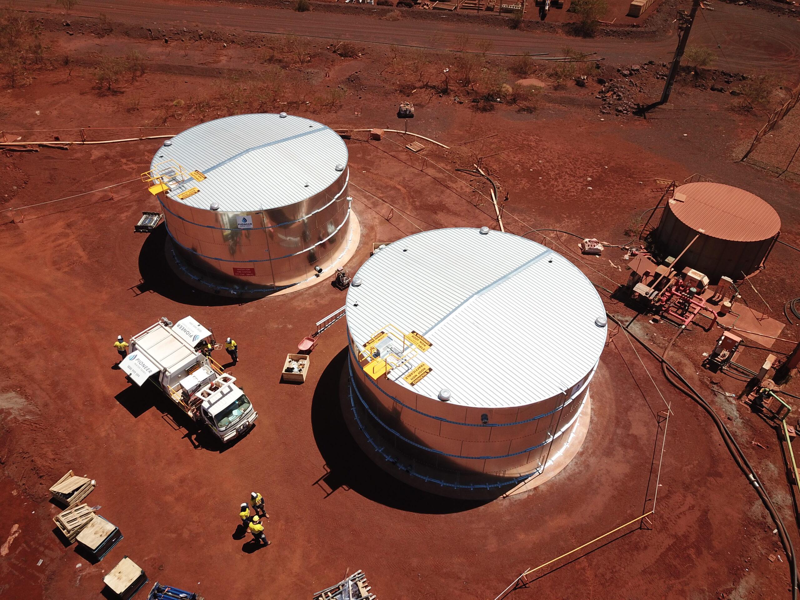 Pioneer Mine Site Water Tanks