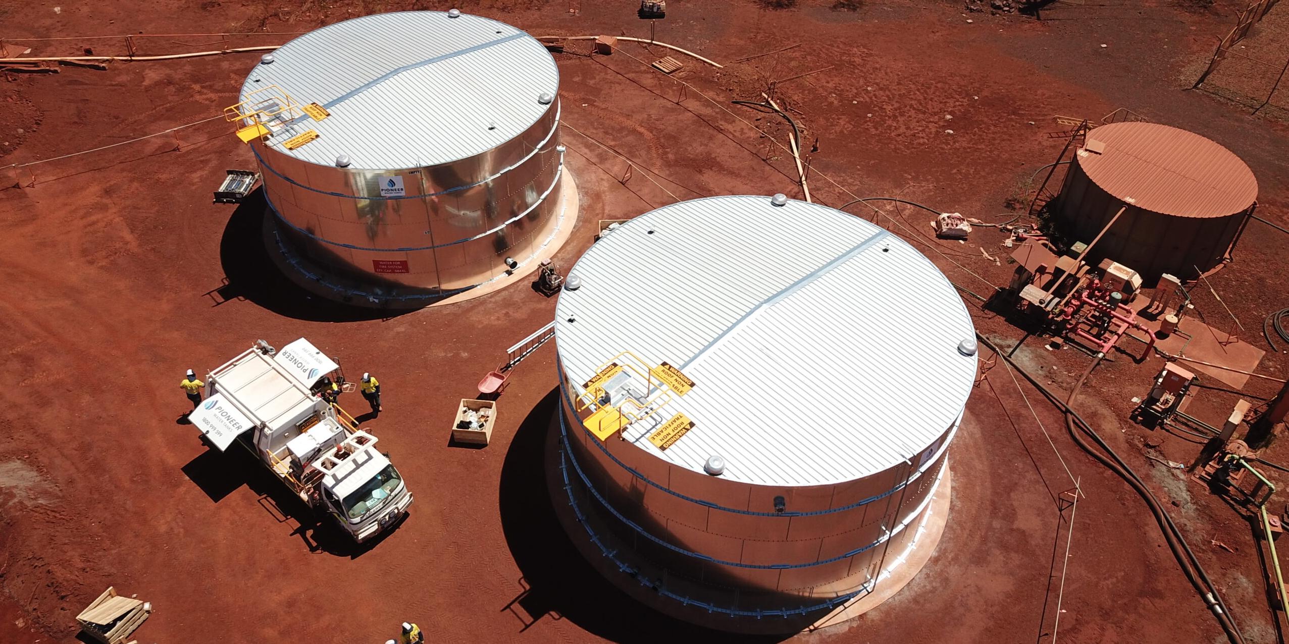 mining panel tank